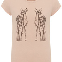 Nude bambi t-shirt - View All New In - What's New - Dorothy Perkins