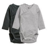 2-pack Wrapover Bodysuits - from H&M
