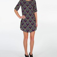 As U Wish Chevron Dress
