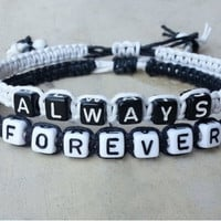 Couples Bracelets Always Forever Personalized Bracelets = 1697435652