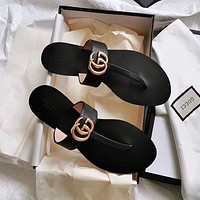 GUCCI G water drill g button flip flop shoes-1