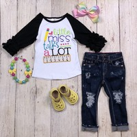 RTS Little Miss Talk A lot Raglan