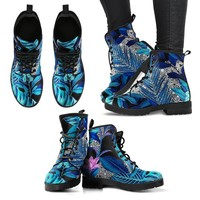 Custom Hand Crafted Eco-friendly Leather Flower Designer Women Boots
