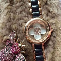 LV Louis Vuitton Women Fashion Quartz Movement Wristwatch Watch