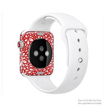 The Red Floral Sprout Full-Body Skin Kit for the Apple Watch