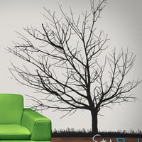 Vinyl Wall Decal Sticker Cherry Tree Winter #OS_AA109