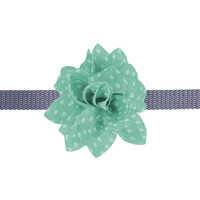 Bow & Arrow Mint Dot Flower - Attaches to most collars!