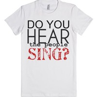 Do You Hear the People Sing?-Female White T-Shirt