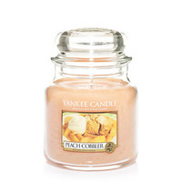 Peach Cobbler : Medium Jar Candles : Yankee Candle