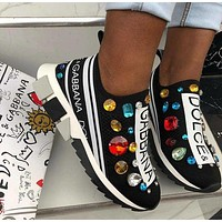 DOLCE&GABBANA Sorrento Sneakers With Crystal