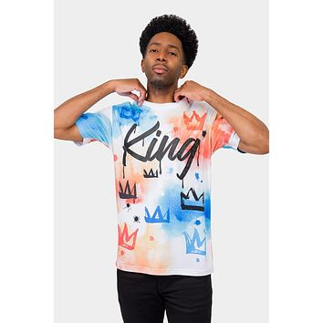 Paint Wash Crowned King T-Shirt