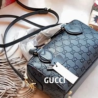 GUCCI Double G Embossed Women's Handbag Messenger Bag