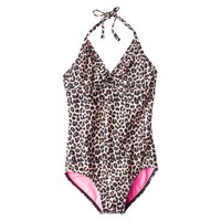 Girls' 1-Piece Leopard Spot Swimsuit