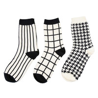 Classic Black And White Sock Set (Set of 3)