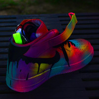 Neon Contrast Nike Air Force 1 Customs