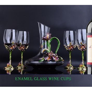 Goblet Set of Wine Glass With Winehold Cup