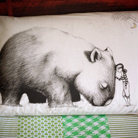 $30.00 MADE TO ORDER Wombat Pillowcase by flossyparticles