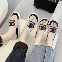 Champion new slippers indoor non-slip soft bottom wear slippers lovers versatile slippers