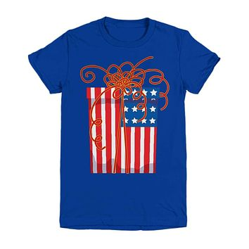 American Flag Present Youth Tee