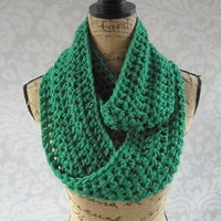 SALE! Ready To Ship Infinity Scarf St Patrick's Day Green Fall Winter Women's Accessory Infinity