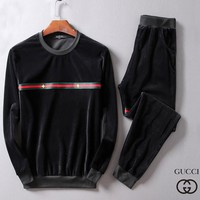 Boys & Men Gucci Fashion Top Sweater Pullover Pants Trousers Set Two-Piece