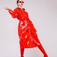 Passion Party Vinyl Trench Coat