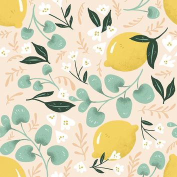 Lovely Lemons Wallpaper