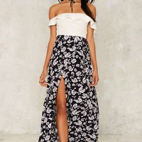 Keep It Wrapped Floral Skirt