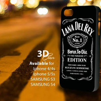 lana del rey jack daniel (c) 3D iPhone Case for iPhone 4/4S, iPhone 5/5S and,Samsung Galaxy S3, S4