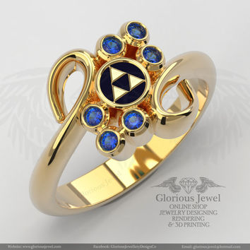 Glorious Zelda Ring, CZ stone ,925 silver, 14k white or  yellow Gold, Custom made, FREE SHIPPING - Made to Order