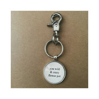Parks and Rec Leslie Knope flower pot quote keychain- customized keychain- BFF