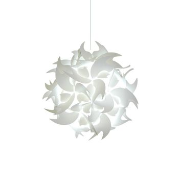 Medium Hooks Pendant Light Fixture - Cool white glow