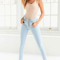 BDG Twig High-Rise Button-Front Skinny Jean - Light Blue