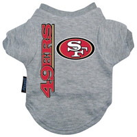 San Francisco 49ers Dog Tee Shirt - Medium