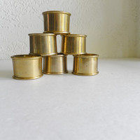 Brass Napkin Rings Set of 6 Table Decor Dining Kitchen Accessories