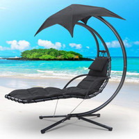Hanging Chair Seat Sun Lounger Outdoor Cushion Garden Swing Hammock Helicopter