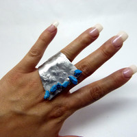 abstract rings shop , adjustable hammered ring , aluminum jewelry , big rings shop , huge rings , crazy rings , abstract rings