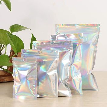20Pcs Zip lock Holographic Storage Bags