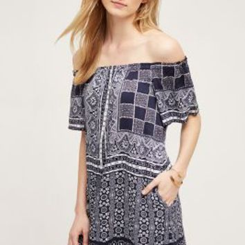 one.september Cayucos Tunic in Blue Motif Size: