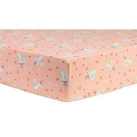 Fox and Flowers Deluxe Flannel Fitted Crib Sheet