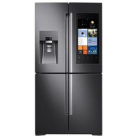 Samsung 22 cu. ft. Family Hub 4-Door Flex French Door Refrigerator in Black Stainless Steel, Counter Depth RF22K9581SG at The Home Depot - Mobile