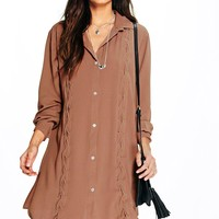 Seranova Lace Up Shirt Dress