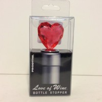 Love of Wine Bottle Stopper Red Heart Hs-2-r By Prodyne