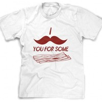 I Mustache You For Some Bacon Tshirt