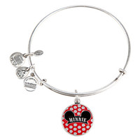 Disney Alex and Ani Parks Minnie Ear Charm Bangle Bracelet Silver New With Tags