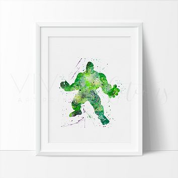 The Incredible Hulk Watercolor Art Print