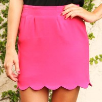 Just South Of Heaven Skirt: Hot Pink