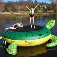 Island Hopper 13' Turtle Padded Water Bouncer