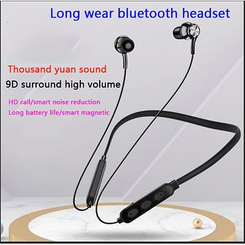 Neck-mounted magnetic wireless ultra-long standby Bluetooth headset