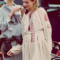 Free People Felicia Embroidered Dress